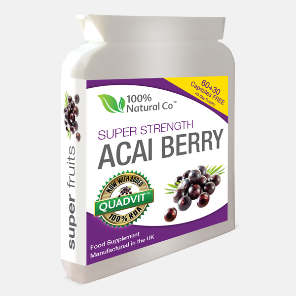 Acai Berry Capsules Buy Online 100 Natural Co